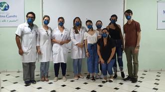 Alunos da UNIP realizam visita técnica ao Hospital Mahatma Gandhi