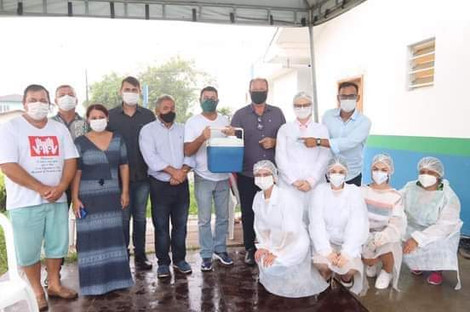 Balneário Barra do Sul: Unidade gerida pela Associação Mahatma Gandhi recebe vacina contra Covid-19
