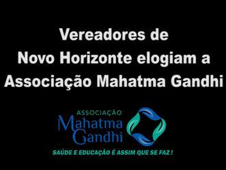 Vereadores de Novo Horizonte-SP elogiam atuação da Associação Mahatma Gandhi