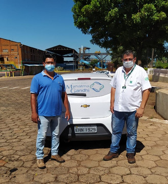 Grupo Nardini doa álcool para o Hospital Mahatma Gandhi