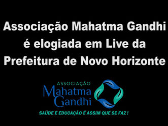 Prefeito e Vice de Novo Horizonte-SP enaltecem gestão da Associação Mahatma Gandhi