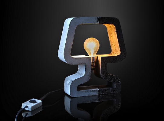 Very concrete lamp LED
