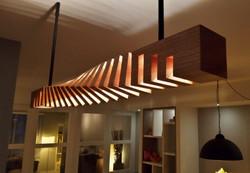 Bar lamp Twisted light beam