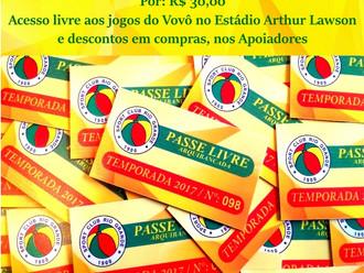 'PASSE LIVRE - ARQUIBANCADA'... Vem junto com o Vovô!!!