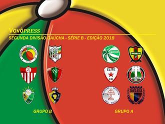 Regulamento, Grupos e Carnê de Jogos da Segunda Divisão Gaúcha - Edição 2018