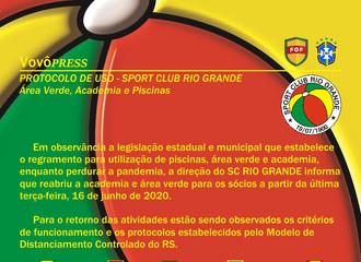 Protocolo de Uso - Área Verde, Academia e Piscinas