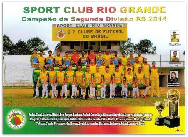 Campeão da Segunda Divisão Gaúcha - Série B - 2014