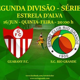 Próximo Foot-Ball Match, pela 2º Rodada do Quadrangular, Vovô enfrenta o Guarany, na Rainha da Front