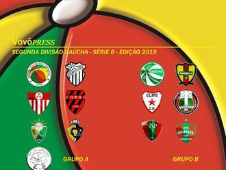 Grupos e Carnê de Jogos da Segunda Divisão Gaúcha - Edição 2019