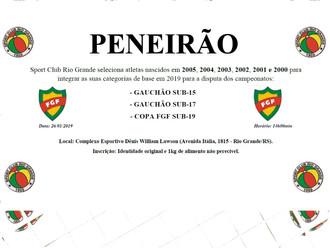 Sport Club Rio Grande promove 'PENEIRÃO' para as Categorias de Base