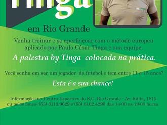 S.C. Rio Grande receberá clínica de futebol ByTinga... Inscrições a partir de Segunda-feira (26).