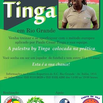 S.C. Rio Grande receberá Clínica de Futebol 'ByTinga', nos dias 25, 26 e 27 de Novembro, con