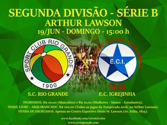 Próximo Foot-Ball Match, Veterano Rio Grande recebe o Igrejinha, em duelo decisivo no Quadrangular..