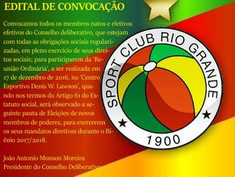 CONSELHO DELIBERATIVO - EDITAL DE CONVOCAÇÃO...