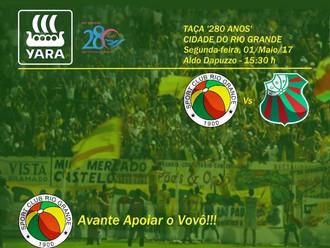 Taça '280 Anos' Cidade do Rio Grande, tem Apoio da Prefeitura Municipal do Rio Grande e Yara