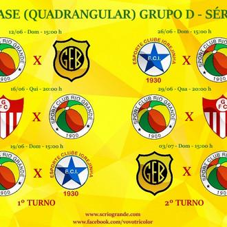 Confira a Tabela de jogos do Veterano Rio Grande: Grupo D (Quadrangular) da 2º Fase da Série B...