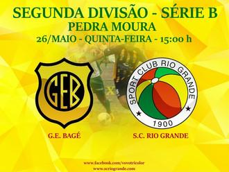 Próximo Foot-Ball Match, desafio na 'Rainha da Fronteira', Veterano Rio Grande enfrenta o Ba