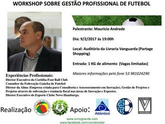 Workshop sobre 'Gestão Profissional de Futebol' será quinta-feira (09/Fev)