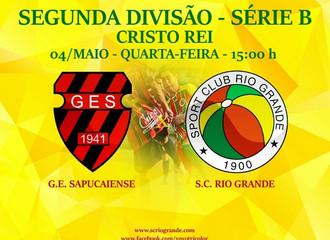 Próximo Foot-Ball Match, no Cristo Rei, Rio Grande encara o Sapucaiense...