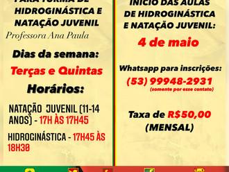 QUADRO SOCIAL - HIDROGINÁSTICA E NATAÇÃO JUVENIL