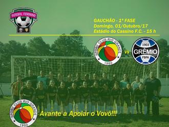 Em duelo Tricolor, 'Loucurinhas do Vovô' recebem o Grêmio F.B.P.A.