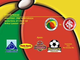 Confira o Serviço do Amistoso: SC Rio Grande Vs SC Internacional
