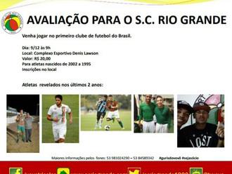 Sport Club Rio Grande realiza 'Avaliação de Atletas' neste sábado (09/12)