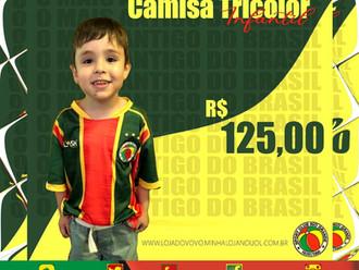 Vovô lança Camisa Oficial Tricolor Infantil