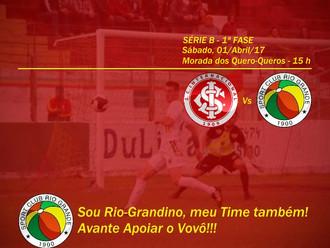 Estreia do Vovô na Série B é antecipada; jogo contra o S.C. Internacional será no Sábado (01/04)
