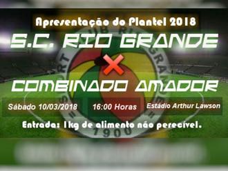 Próximo Foot-Ball Match, Veterano Rio Grande realiza jogo treino neste sábado (10/03)