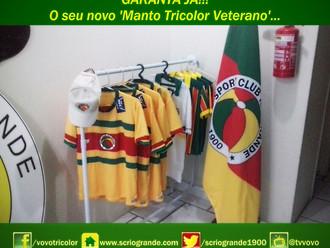 GARANTA JÁ!!! O seu novo 'Manto Tricolor Veterano'...