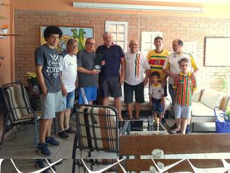 Em visita a 'Noiva do Mar', Mottini recebe homenagem da Direção tricolor