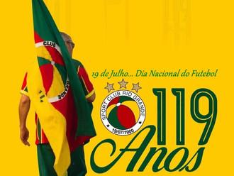 Vem ai... O Manto do 'Mais Antigo' do Brasil alusivo aos 119 Anos