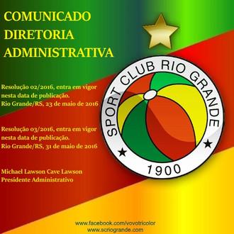 Ao Quadro Social... Comunicados - Diretoria Administrativa.