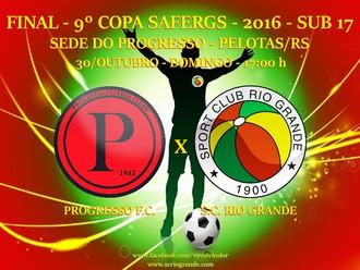 Equipe Sub-17 do Sport Club Rio Grande, disputa a Final da '9º Copa SAFERGS Juvenil - Edição 201