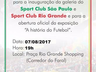 Praça Rio Grande Shopping promove exposição 'A história do Futebol'