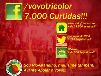Fanpage Oficial do Sport Club Rio Grande no facebook conquista 7.000 Curtidas!!!
