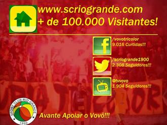 Site do S.C. Rio Grande conquista mais de 100.000 Visitantes!!!