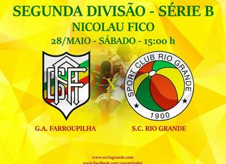 Próximo Foot-Ball Match, em jogo decisivo, Veterano Rio Grande enfrenta o Farroupilha, no Nicolau Fi