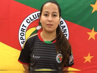 Atletas que vestem o 'Manto' do S.C. Rio Grande, na disputa do Gauchão Feminino