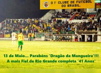 13 de Maio... Parabéns!!! 'Dragão da Mangueira' completa 41 Anos