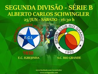 Próximo Foot-Ball Match, Veterano Rio Grande encara o Igrejinha, no Vale do Paranhana.