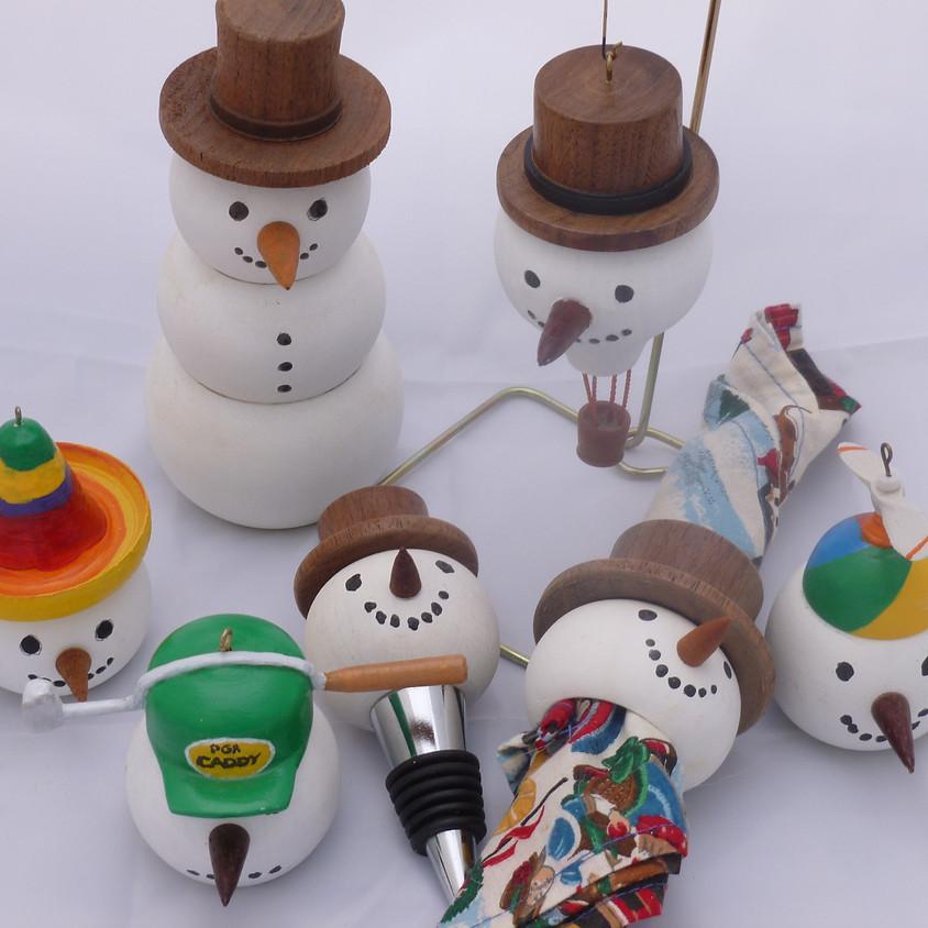 Bob Baucom Presents: Designing and turning The Versatile Snowman.