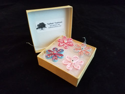 Quilled Flower Ornaments