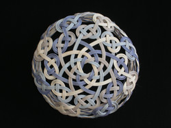 005 celtic knot in blue. gray, natural