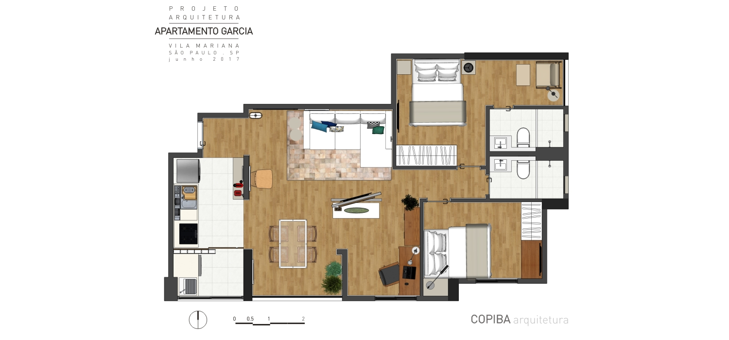 Layout do apartamento