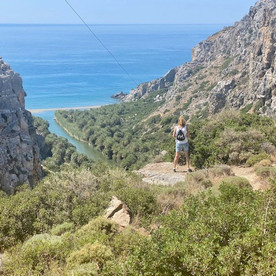 Plakias, Kreta: avontuurlijk wandelen vanaf Preveli Bridge