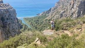 Plakias, Crete: an adventurous walk from Preveli Bridge