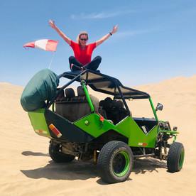 Huacachina Peru: buggy rijden in de zandduinen