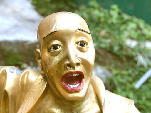 Op de foto met 'macho' buddha